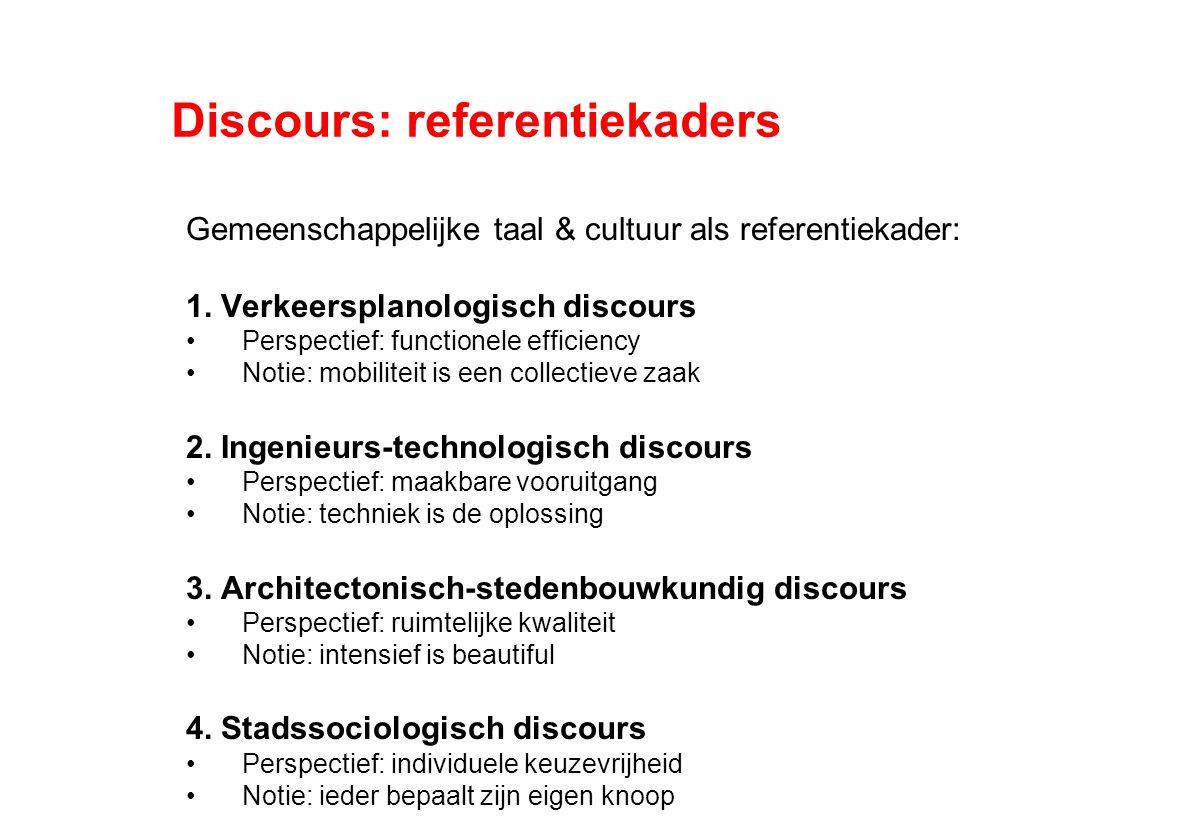 Discours: referentiekaders Gemeenschappelijke taal & cultuur als referentiekader: 1.