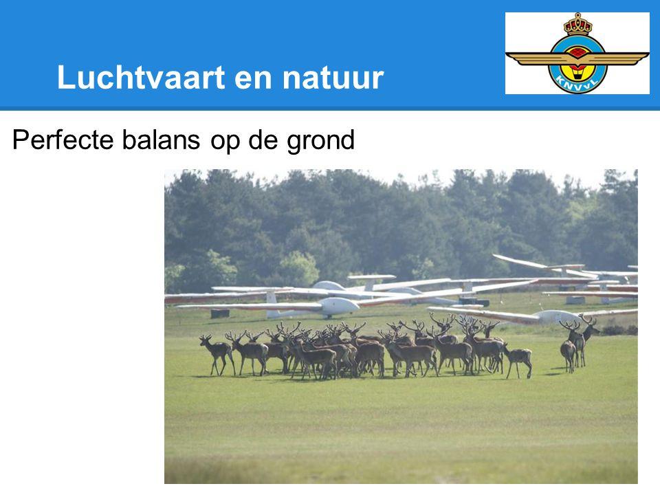 Luchtvaart en natuur Perfecte balans op de grond
