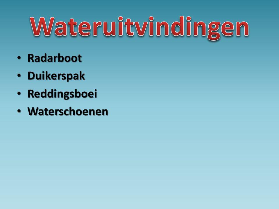 • Radarboot • Duikerspak • Reddingsboei • Waterschoenen