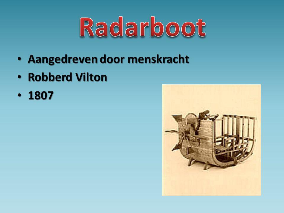 • Aangedreven door menskracht • Robberd Vilton • 1807