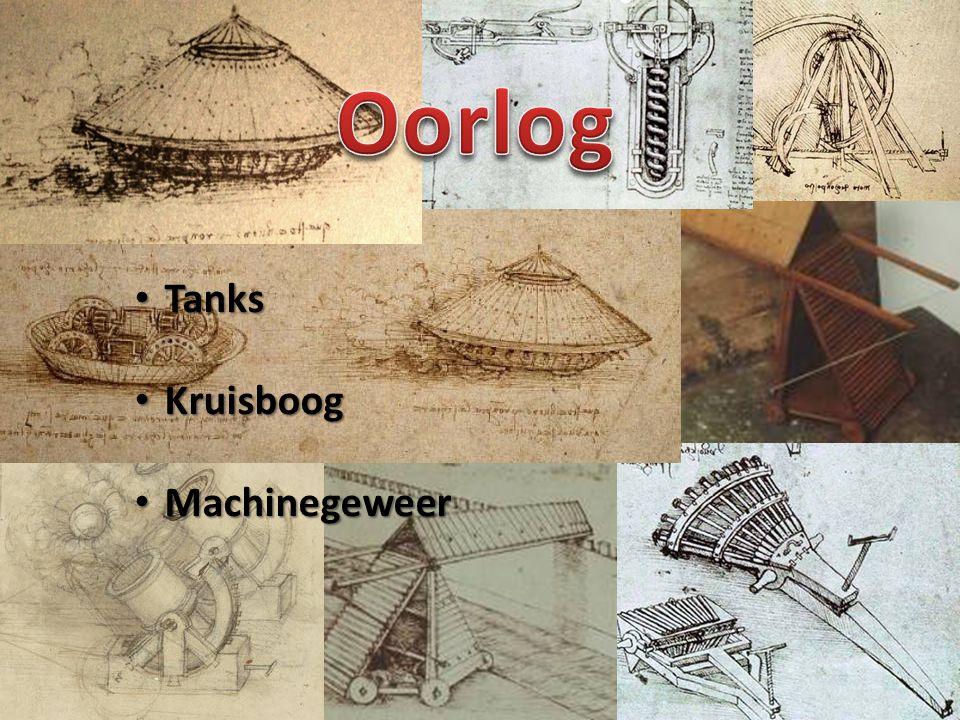 • Het ontwerp dateert uit 1487 • Moesten begeleid worden door infanterie • Fout: wielen te fijn om tank te dragen