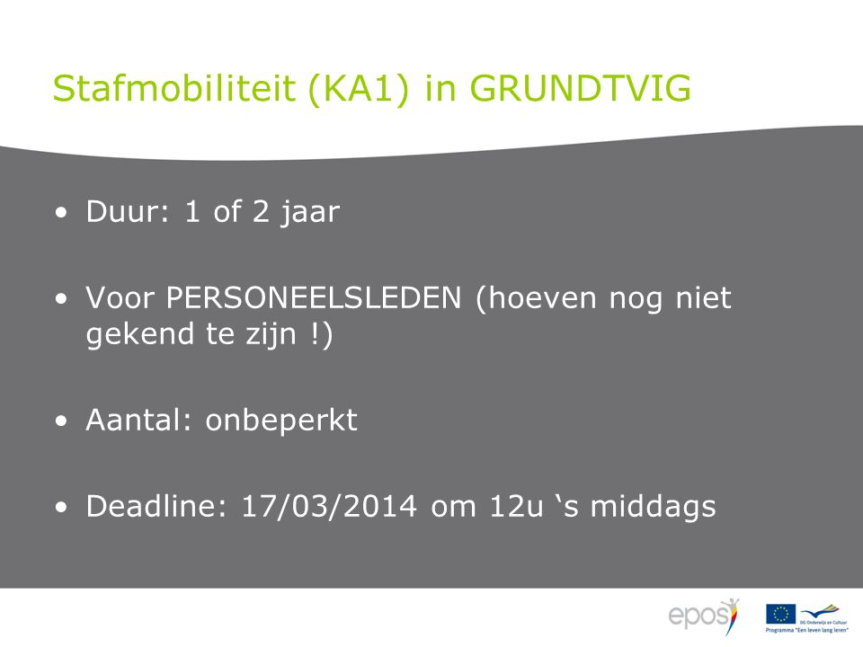 Stafmobiliteit (KA1) in GRUNDTVIG •European Development Plan •.