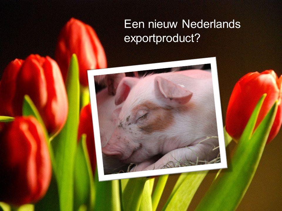 Samenwerking is key •Het Nederlandse voorbeeld als exportproduct Een nieuw Nederlands exportproduct