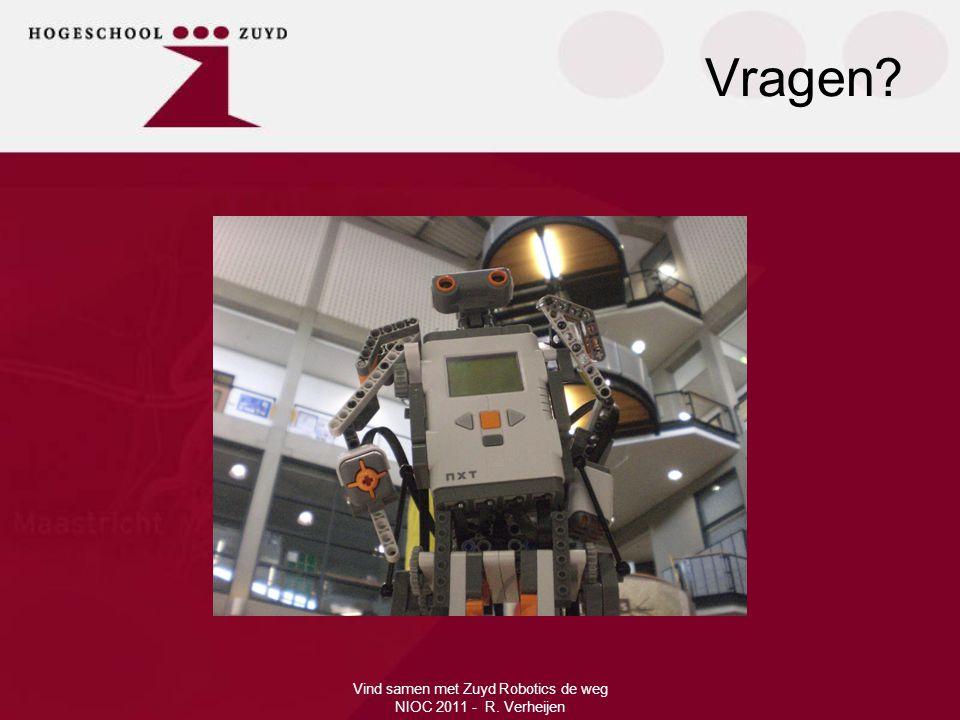 Vind samen met Zuyd Robotics de weg NIOC 2011 - R. Verheijen Vragen?