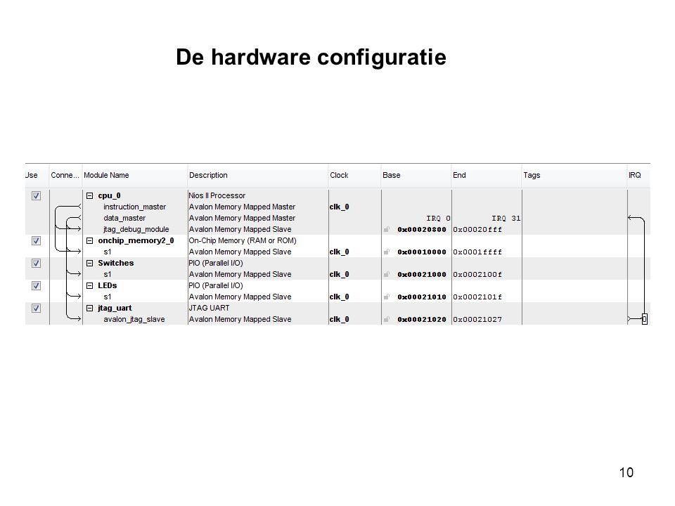 De hardware configuratie 10