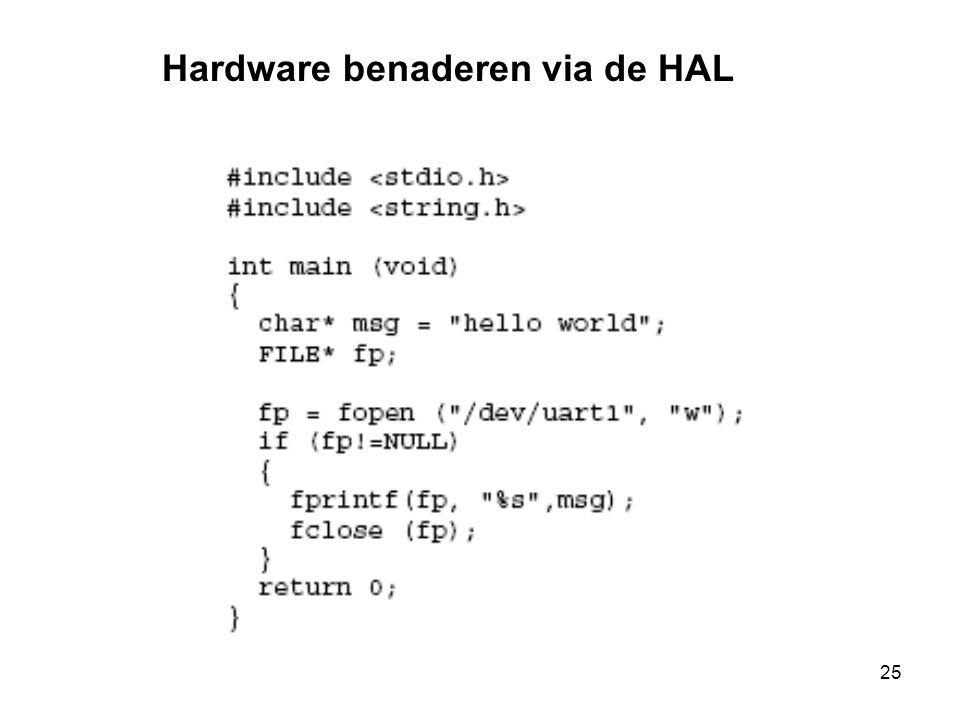 25 Hardware benaderen via de HAL