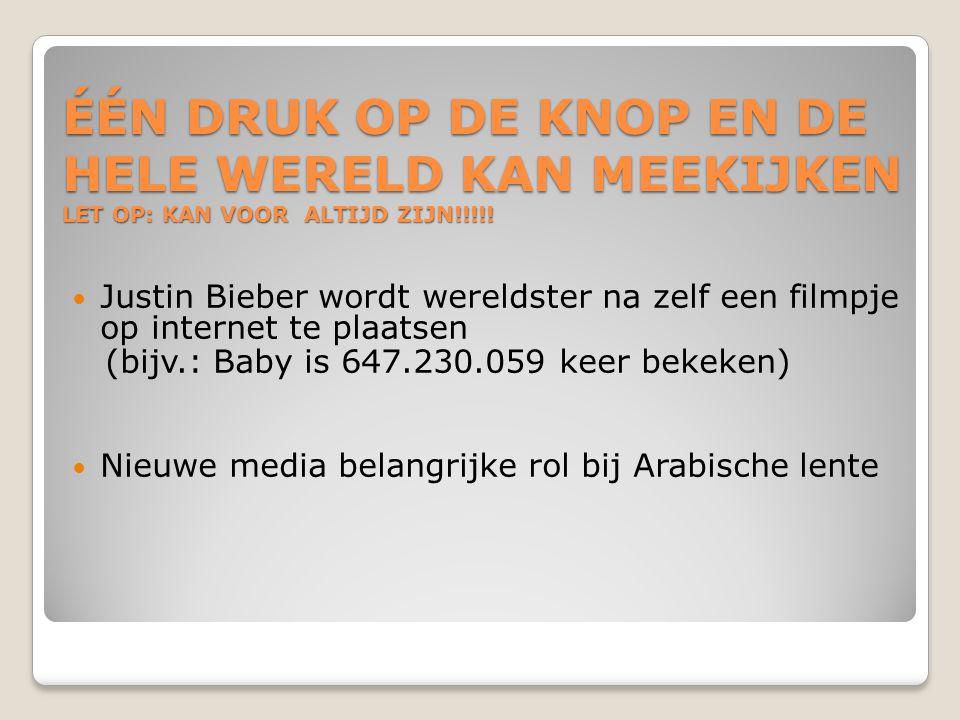 ÉÉN DRUK OP DE KNOP EN DE HELE WERELD KAN MEEKIJKEN LET OP: KAN VOOR ALTIJD ZIJN!!!!!  Justin Bieber wordt wereldster na zelf een filmpje op internet