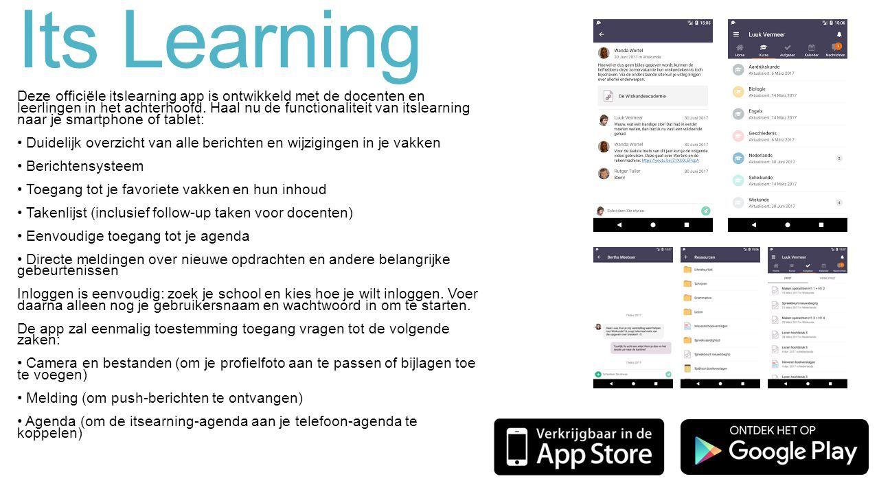 Its Learning Deze officiële itslearning app is ontwikkeld met de docenten en leerlingen in het achterhoofd.