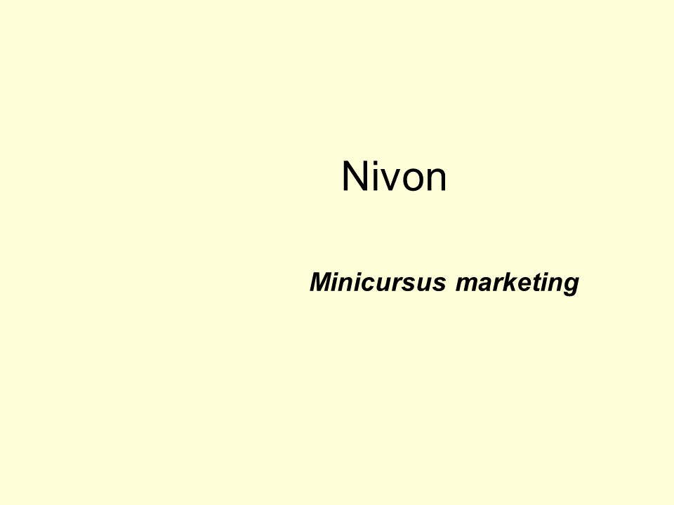 Nivon Minicursus marketing