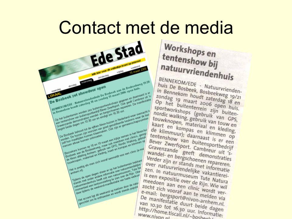 Contact met de media