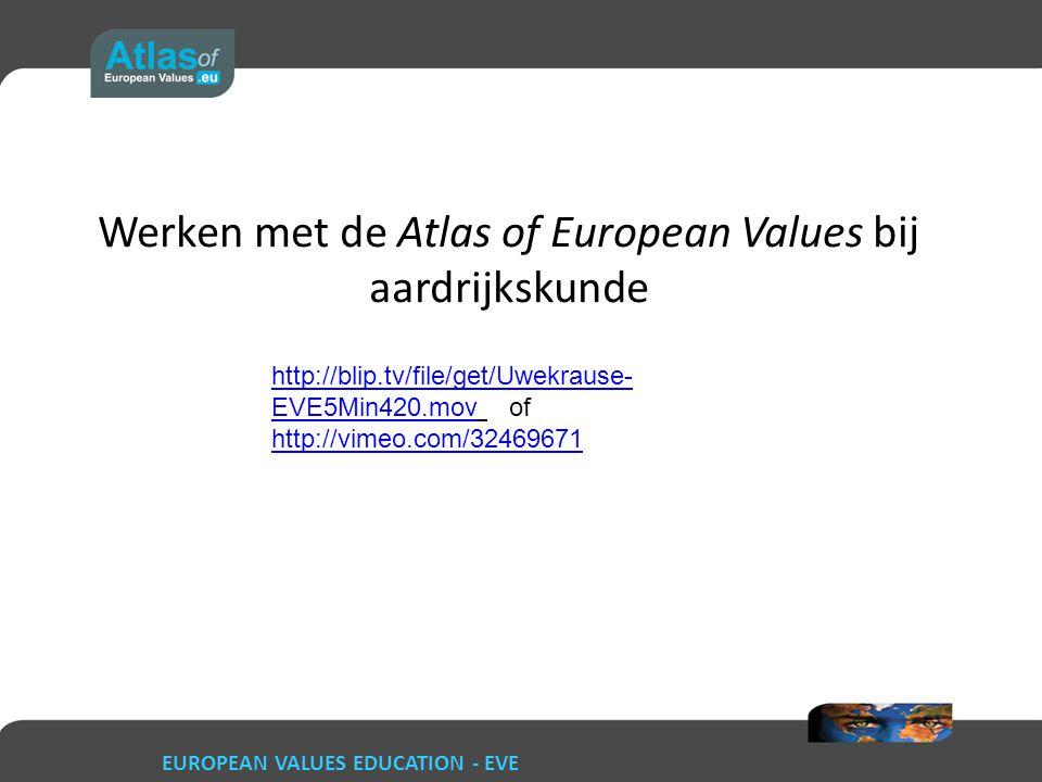 Werken met de Atlas of European Values bij aardrijkskunde http://blip.tv/file/get/Uwekrause- EVE5Min420.movhttp://blip.tv/file/get/Uwekrause- EVE5Min4
