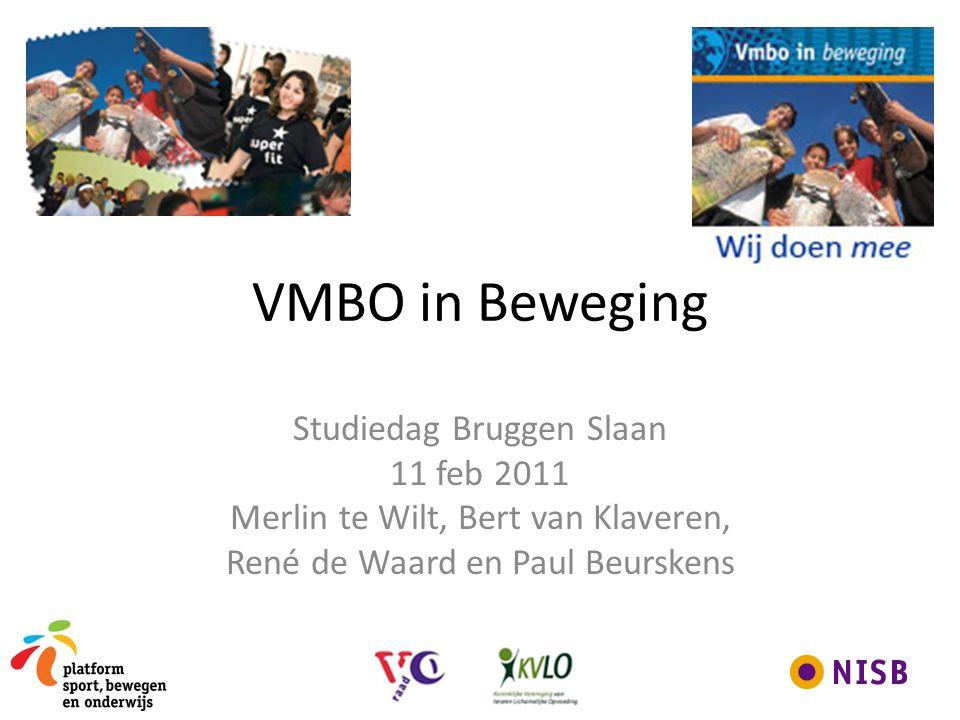 VMBO in Beweging Studiedag Bruggen Slaan 11 feb 2011 Merlin te Wilt, Bert van Klaveren, René de Waard en Paul Beurskens