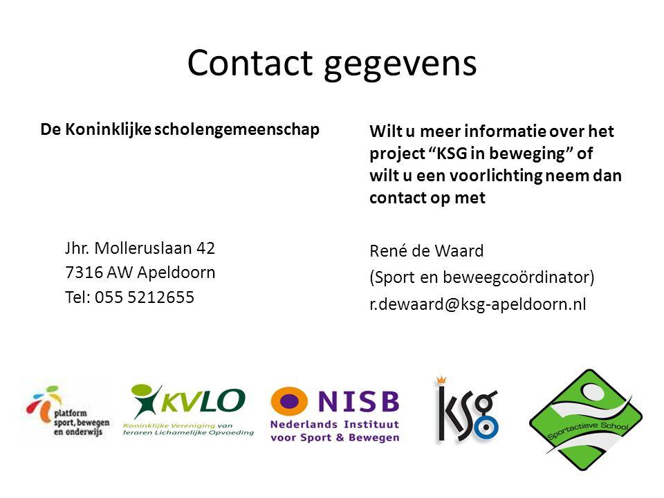 Contact gegevens De Koninklijke scholengemeenschap Jhr.