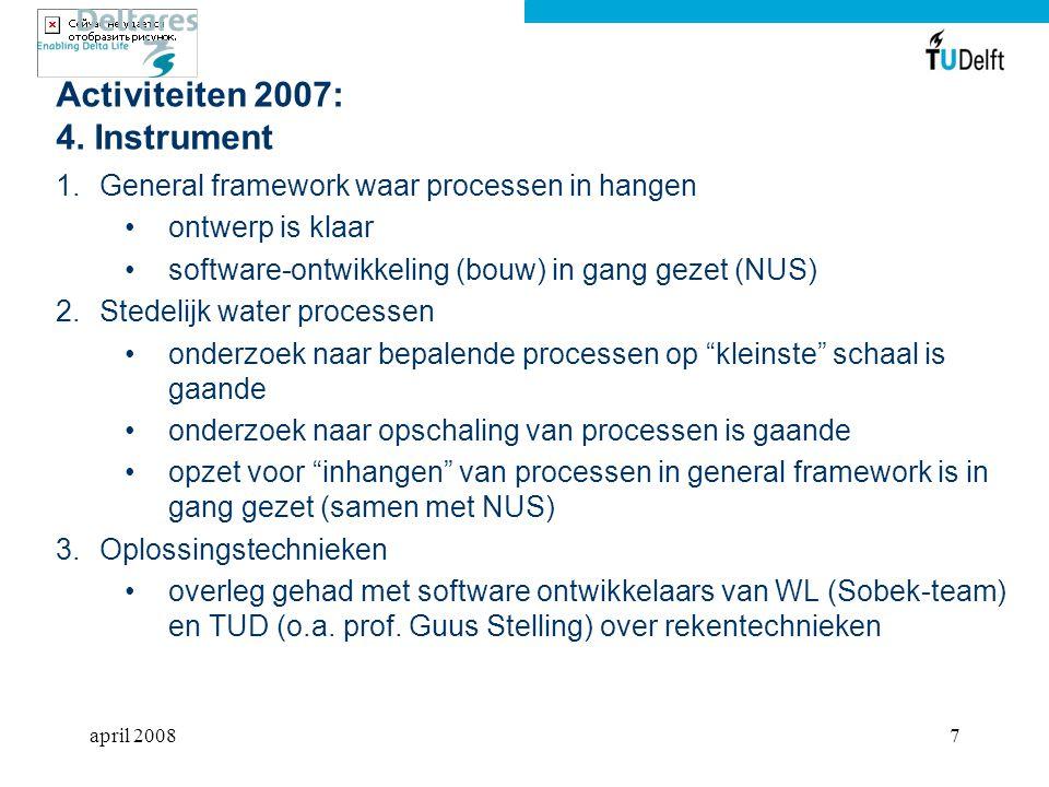 april 20087 Activiteiten 2007: 4.