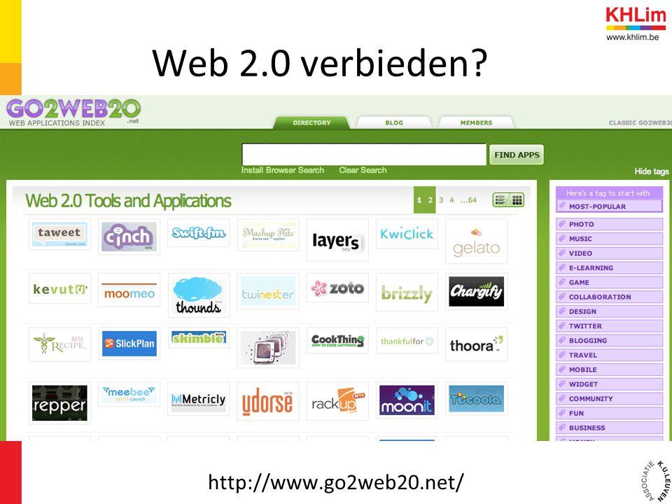 Web 2.0 verbieden http://www.go2web20.net/