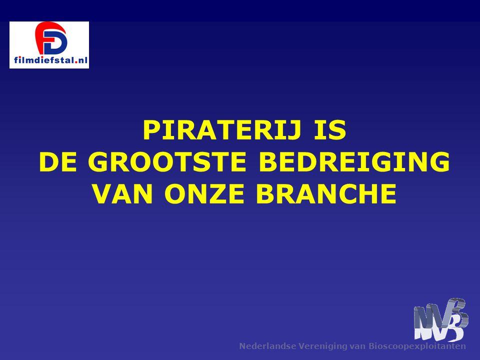 Nederlandse Vereniging van Bioscoopexploitanten PIRATERIJ IS DE GROOTSTE BEDREIGING VAN ONZE BRANCHE