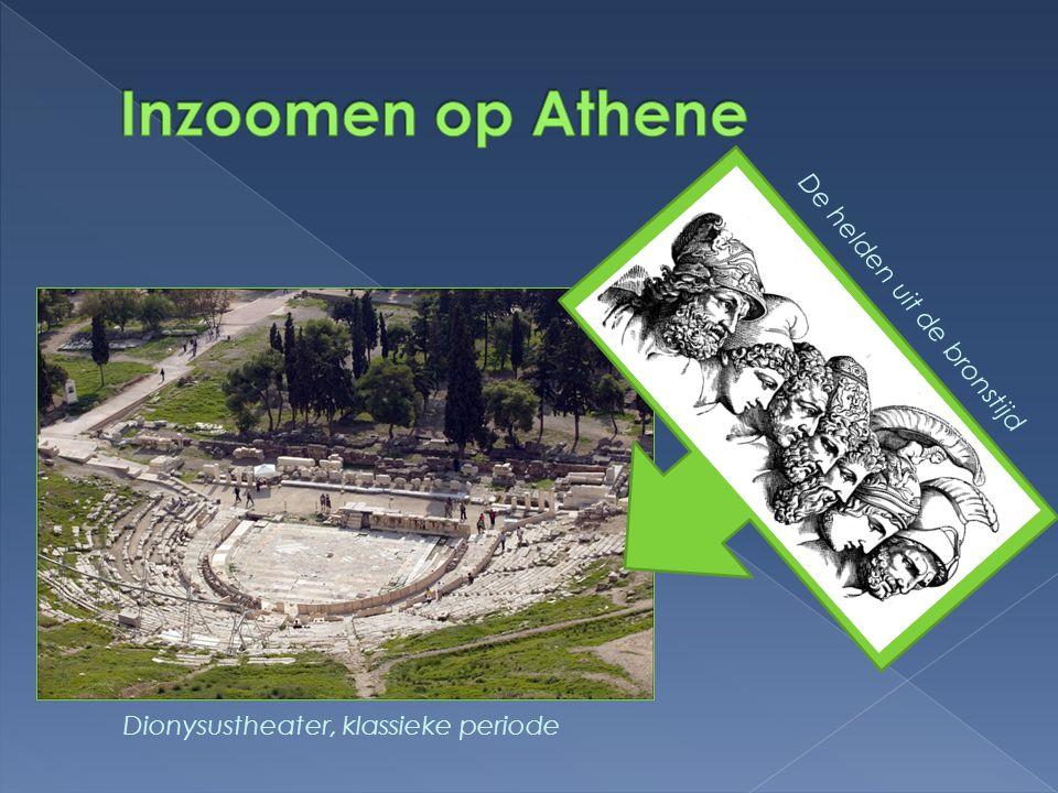 Dionysustheater, klassieke periode De helden uit de bronstijd