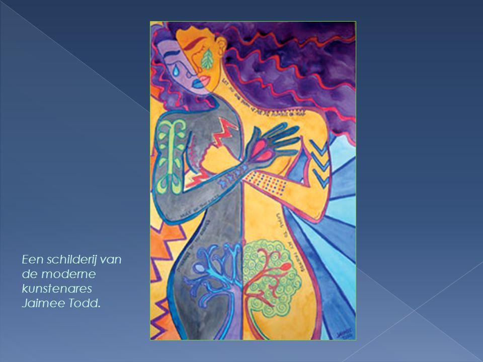 Een schilderij van de moderne kunstenares Jaimee Todd.