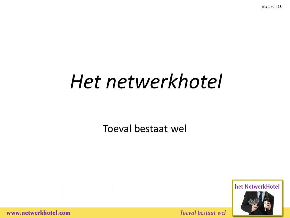dia 1 van 13 Het netwerkhotel Toeval bestaat wel