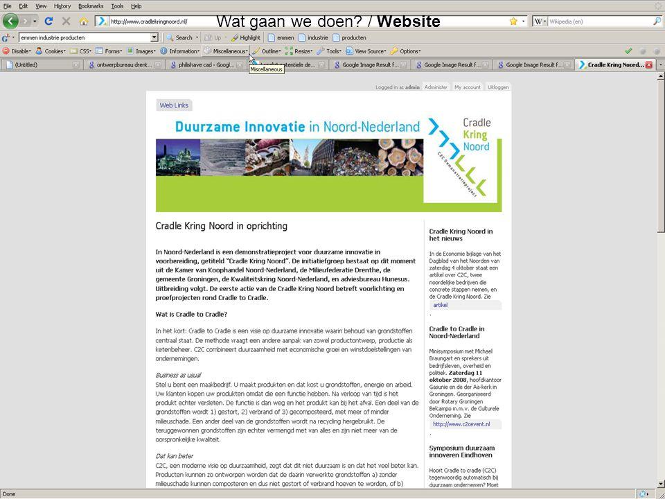Duurzame Innovatie in Noord-Nederland 23 Wat gaan we doen? / Website
