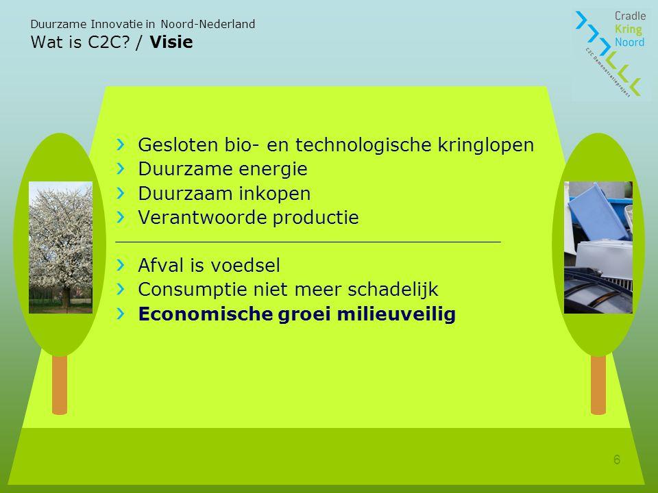 Duurzame Innovatie in Noord-Nederland 6 Wat is C2C.