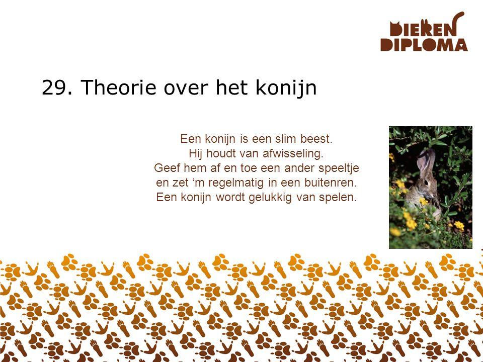 28. Theorie over de Vogel De veren van een vogel gaan niet een heel leven mee. In de herfst vallen ze meestal uit en groeien er nieuwe aan. Dit heet r