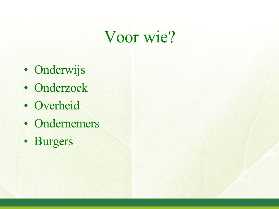 De praktijk: Doelgroepportalen www.groenweb.nl www.melkveeacademie.nl www.infoloketplatteland.nl www.agrodis.nl www.varkensnet.nl www.dierenwelzijnsweb.nl En meer….