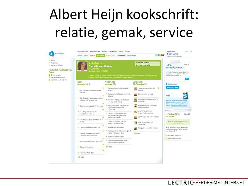 Albert Heijn kookschrift: relatie, gemak, service