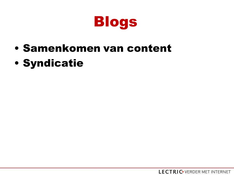 Blogs Samenkomen van content Syndicatie