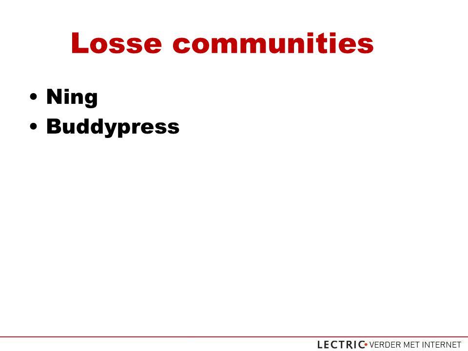 Losse communities Ning Buddypress