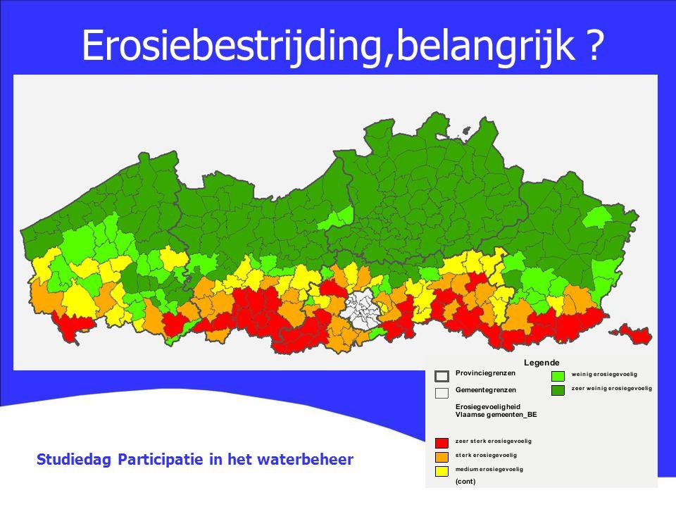 Studiedag Participatie in het waterbeheer Erosiebestrijding,belangrijk ?
