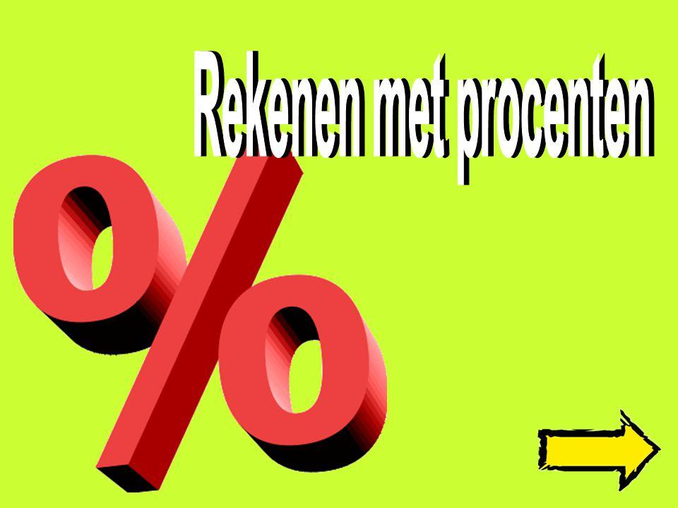 Opgaven Terug naar de uitleg Een tv kostte 130 euro, in de aanbieding krijg je 25% korting.