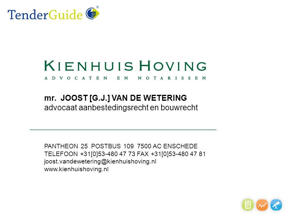 PANTHEON 25 POSTBUS 109 7500 AC ENSCHEDE TELEFOON +31[0]53-480 47 73 FAX +31[0]53-480 47 81 joost.vandewetering@kienhuishoving.nl www.kienhuishoving.n
