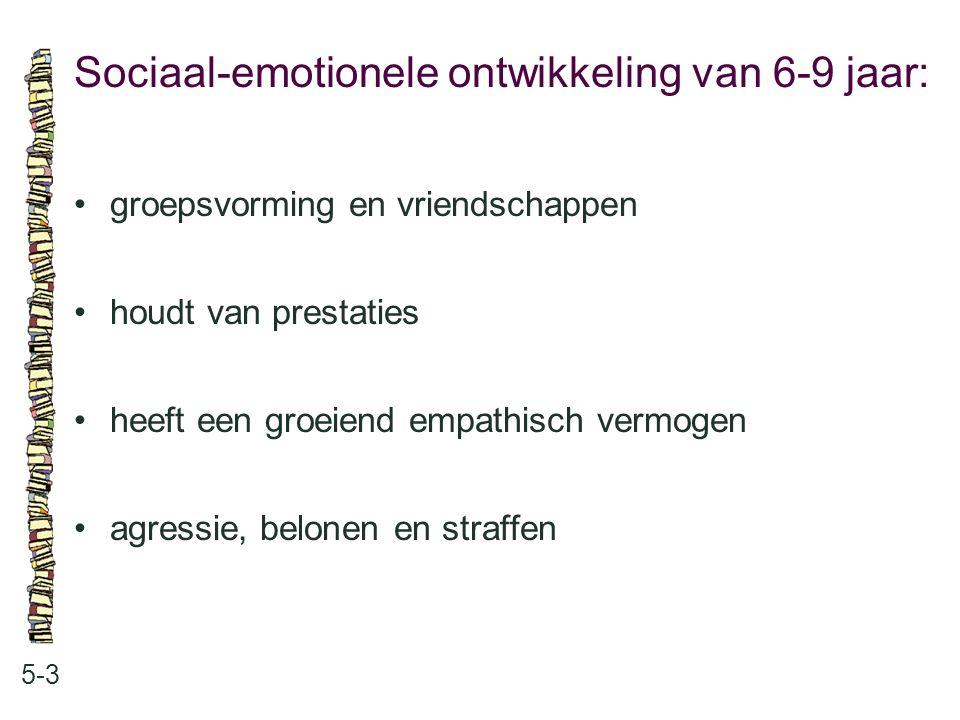 Sociaal-emotionele ontwikkeling van 6-9 jaar: 5-3 groepsvorming en vriendschappen houdt van prestaties heeft een groeiend empathisch vermogen agressie
