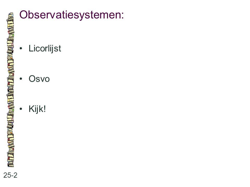 Observatiesystemen: 25-2 Licorlijst Osvo Kijk!