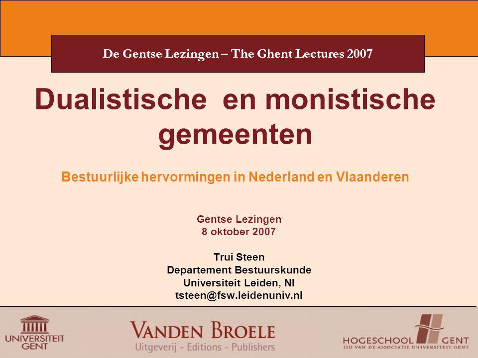 De Gentse Lezingen – The Ghent Lectures 2007 En hoe zit het in Vlaanderen.