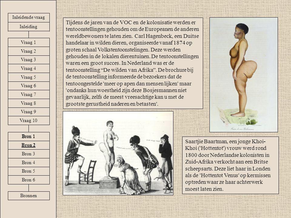 Tijdens de jaren van de VOC en de kolonisatie werden er tentoonstellingen gehouden om de Europeanen de anderen wereldbewoners te laten zien. Carl Hage