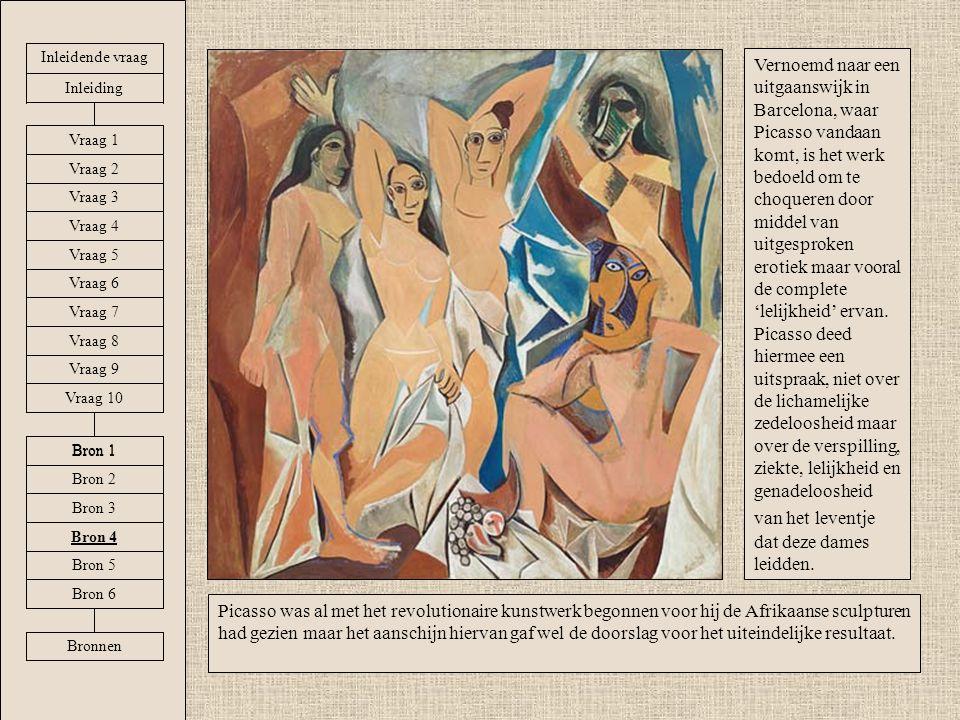 Vernoemd naar een uitgaanswijk in Barcelona, waar Picasso vandaan komt, is het werk bedoeld om te choqueren door middel van uitgesproken erotiek maar vooral de complete 'lelijkheid' ervan.
