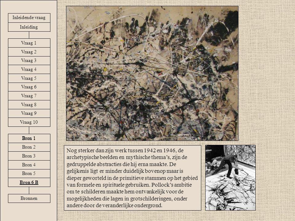 Nog sterker dan zijn werk tussen 1942 en 1946, de archetypische beelden en mythische thema's, zijn de gedruppelde abstracties die hij erna maakte.