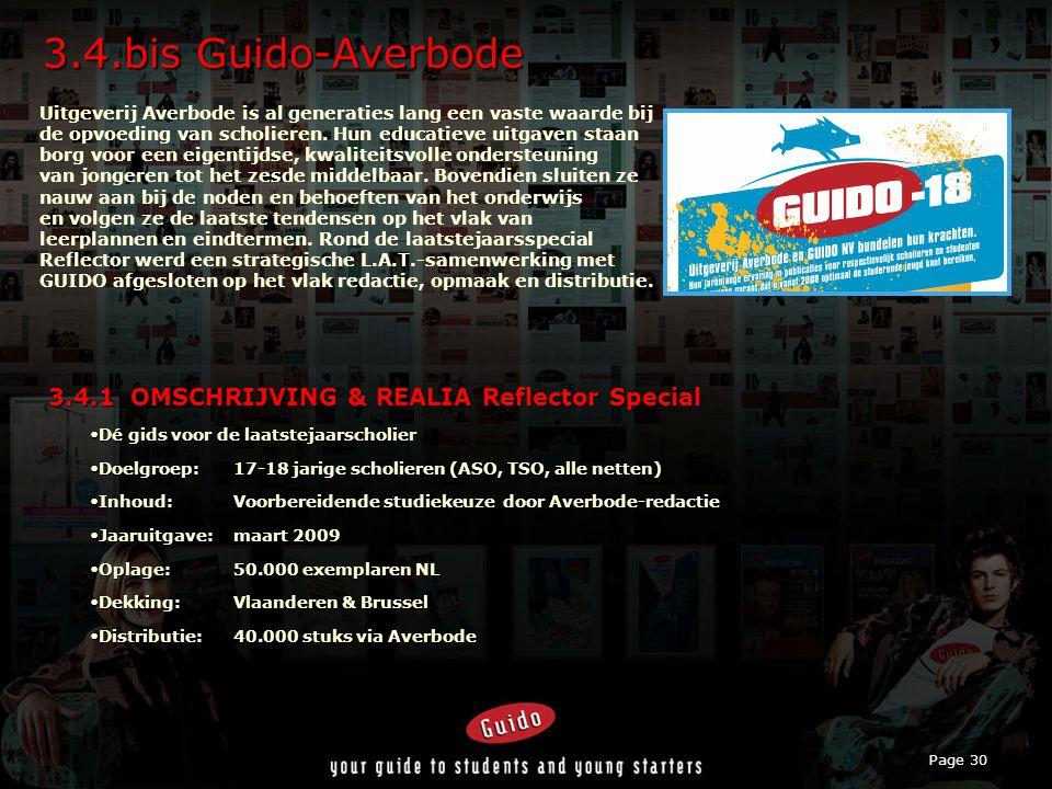 Page 30 3.4.bis Guido-Averbode Uitgeverij Averbode is al generaties lang een vaste waarde bij de opvoeding van scholieren.