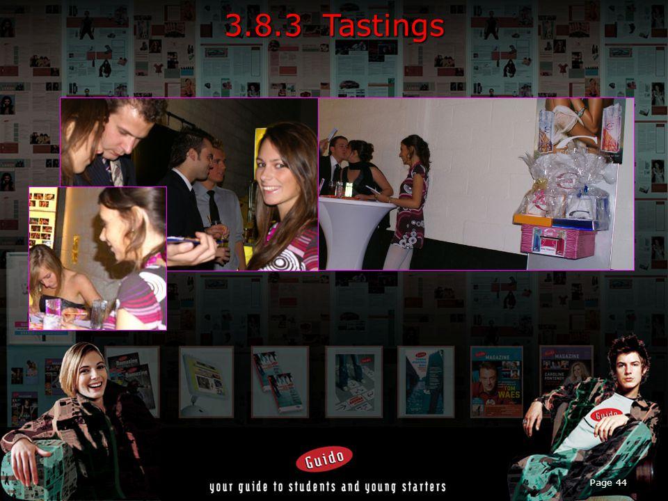 Page 44 3.8.3 Tastings
