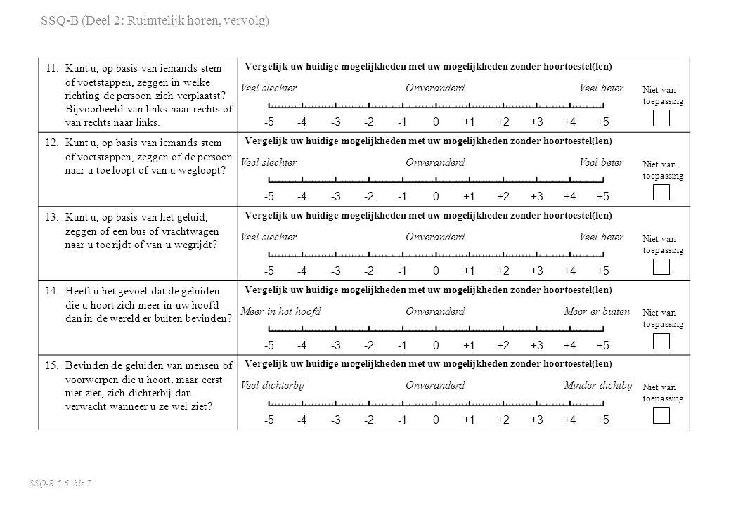 11.Kunt u, op basis van iemands stem of voetstappen, zeggen in welke richting de persoon zich verplaatst? Bijvoorbeeld van links naar rechts of van re