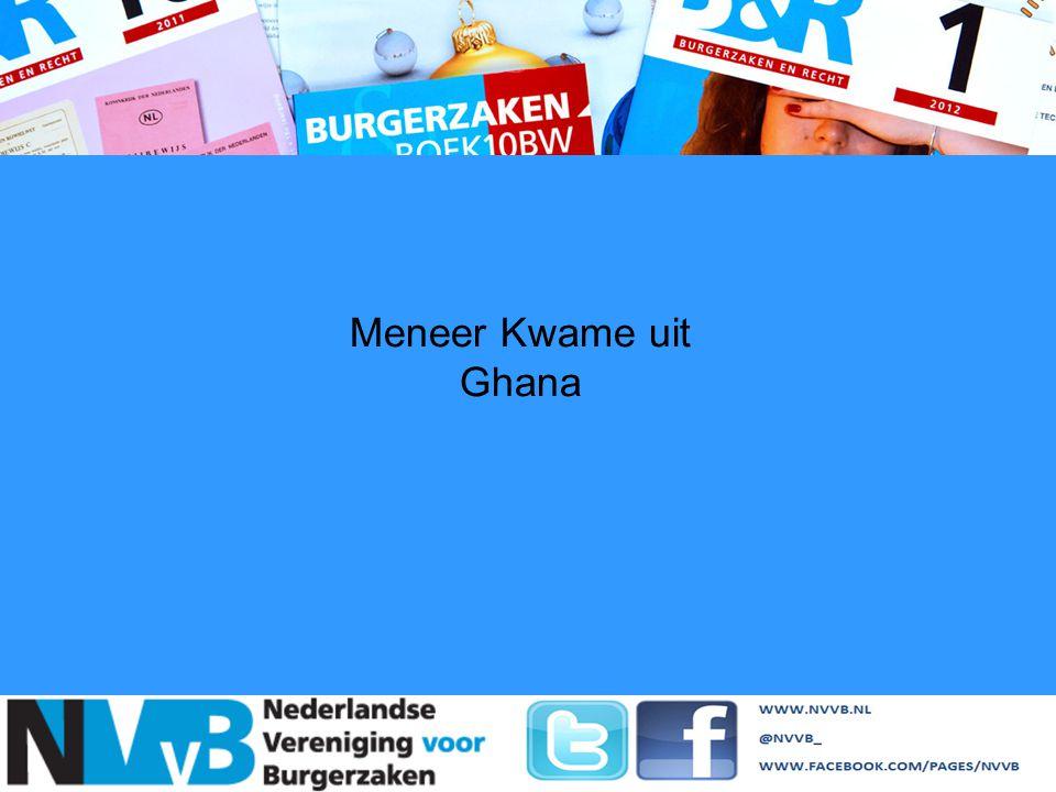 Meneer Kwame uit Ghana