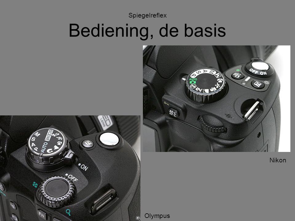 Spiegelreflex Bediening, de basis Canon Sony Nikon Olympus
