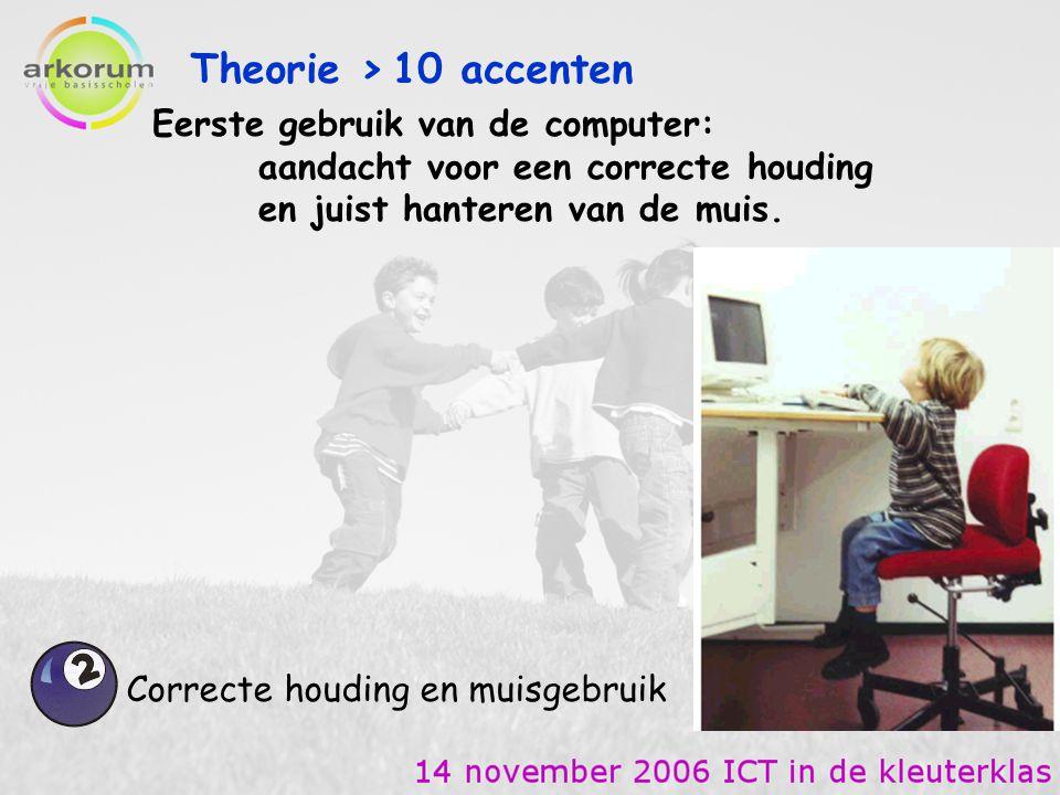 PRAKTIJK: Demoles in de computerklas Enkele filmpjes 3 de kleuterklas (27 lln.) in de computerklas (20 pc's) De Horizon, hoofdschool in Koolskamp