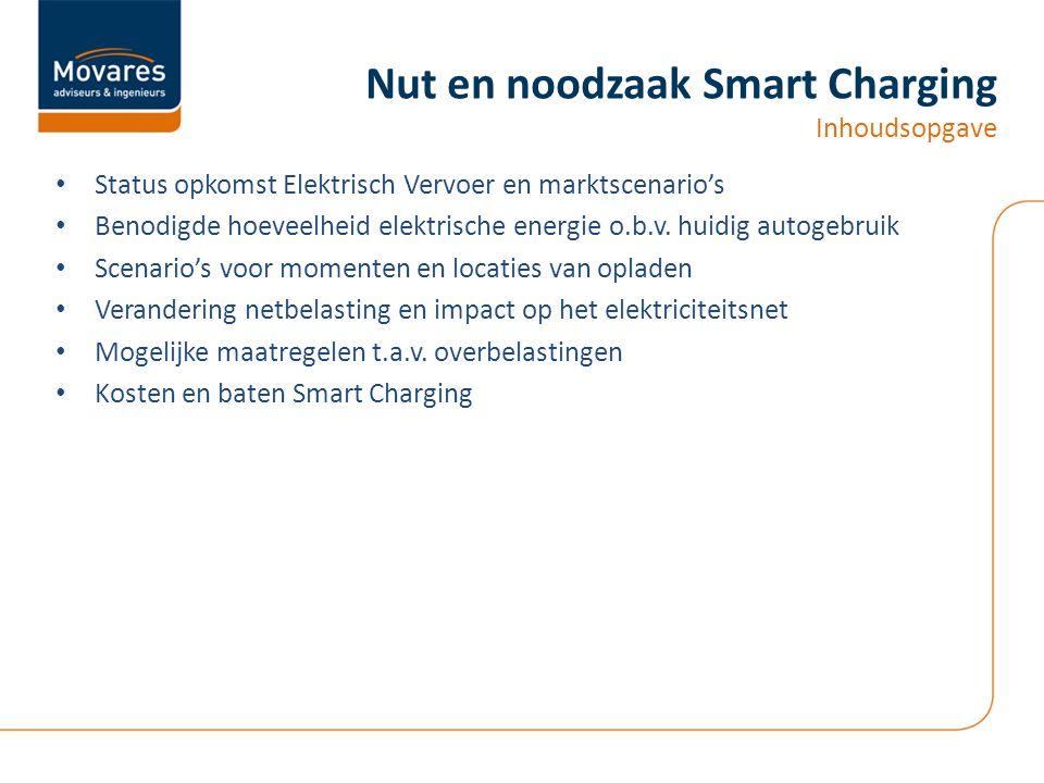 • Status opkomst Elektrisch Vervoer en marktscenario's • Benodigde hoeveelheid elektrische energie o.b.v.