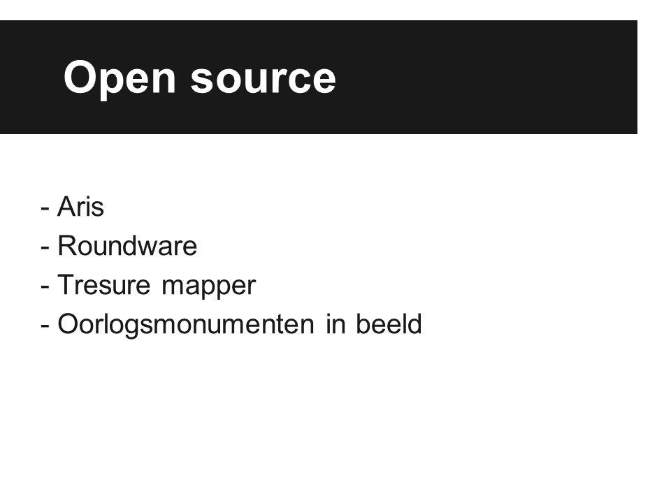 Open source - Aris - Roundware - Tresure mapper - Oorlogsmonumenten in beeld