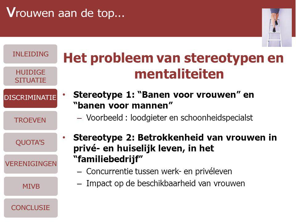"""Het probleem van stereotypen en mentaliteiten • Stereotype 1: """"Banen voor vrouwen"""" en """"banen voor mannen"""" – Voorbeeld : loodgieter en schoonheidspecia"""