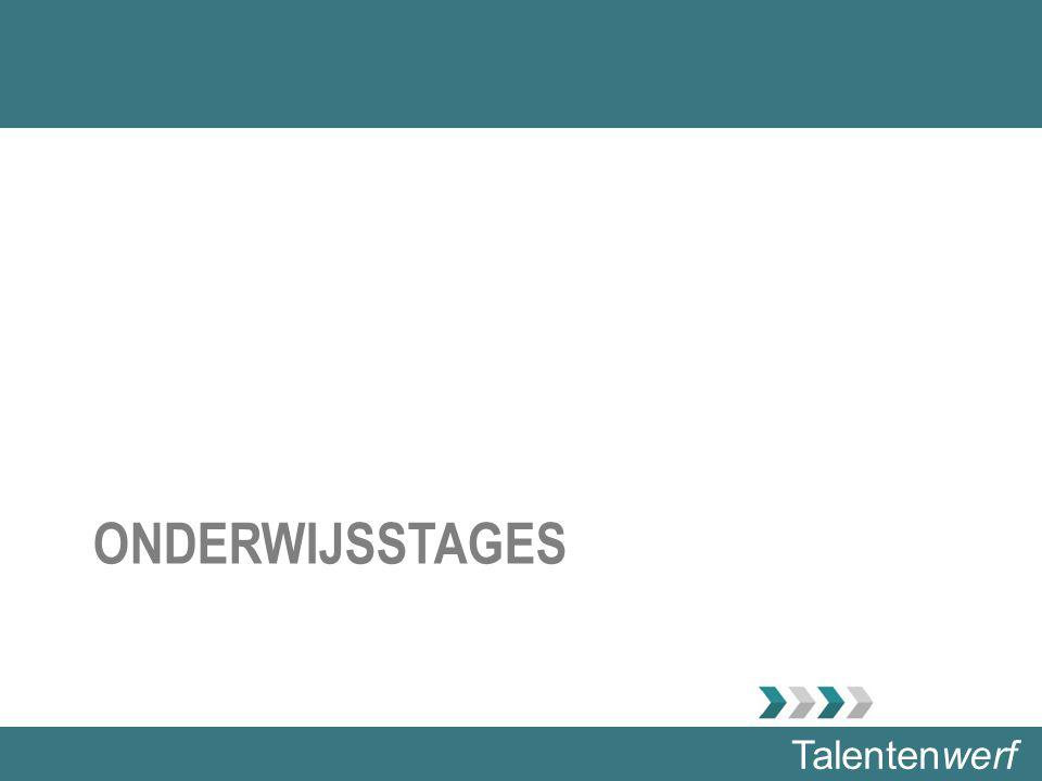 Talentenwerf ONDERWIJSSTAGES
