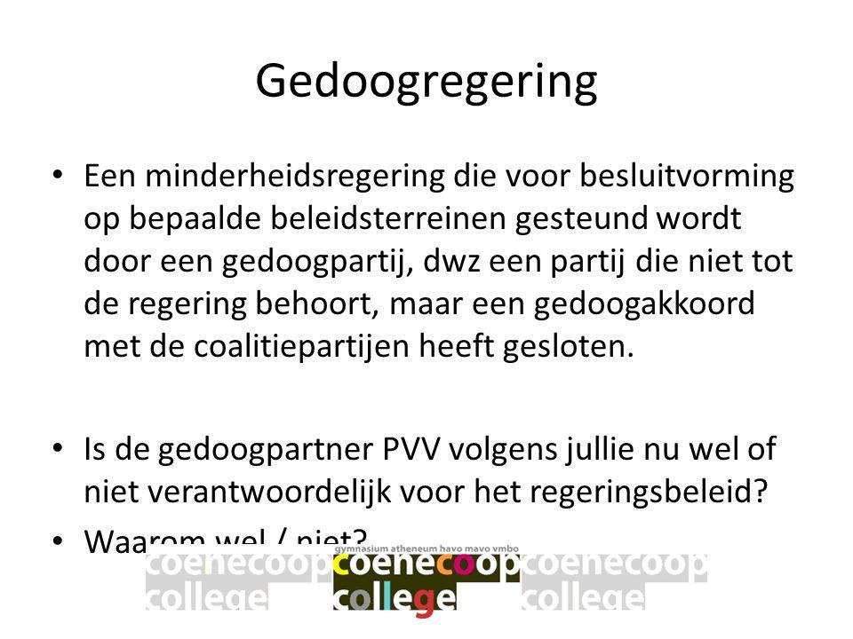 Vraag 16 • 1: fractieleiders • 2: informateur • 3: VVD • 4: PVV • 5: Onderhandelingen • 6: regeerakkoord • 7: Formateur • 8: kabinet • 9: CDA • 10: Koningin